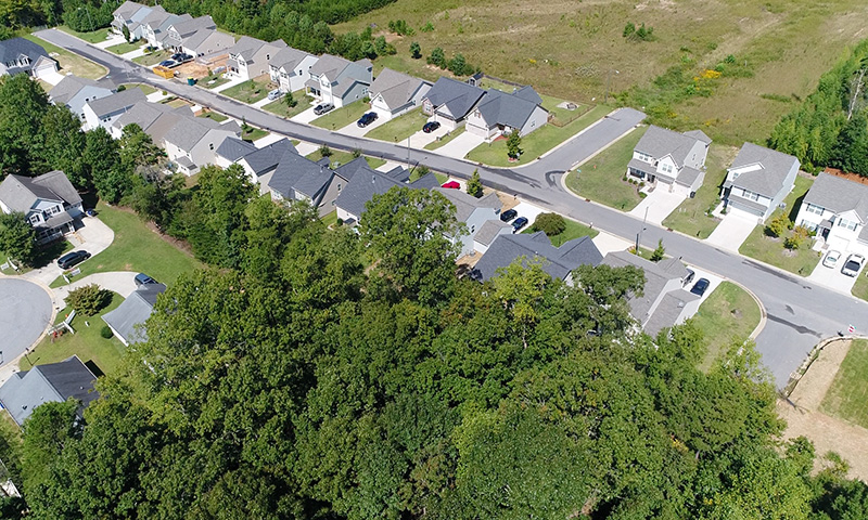 Hubbard Commercial Bridgton Place Aerial View