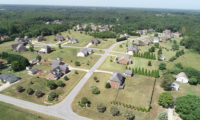 Hubbard Commercial Brushy Creek Aerial View