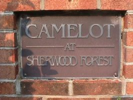 Camelot at Sherwood Forest sign