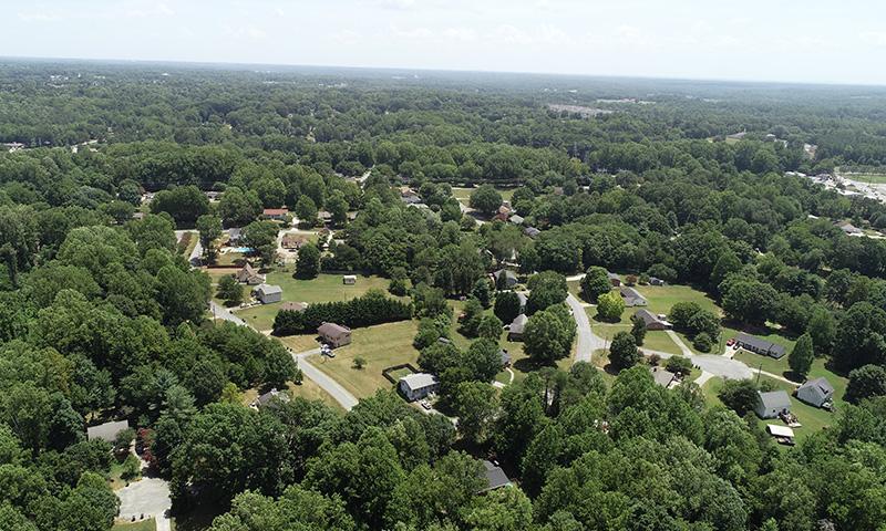 Deerfield aerial view