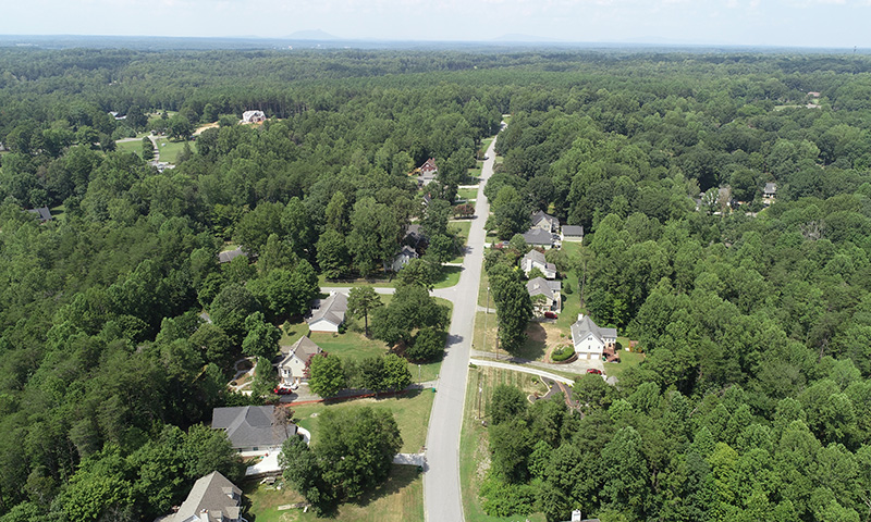 Hubbard Commercial Lewisville Trails Aerial View