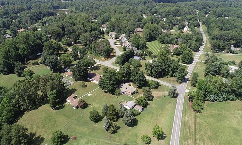 Lynwood Lakes aerial