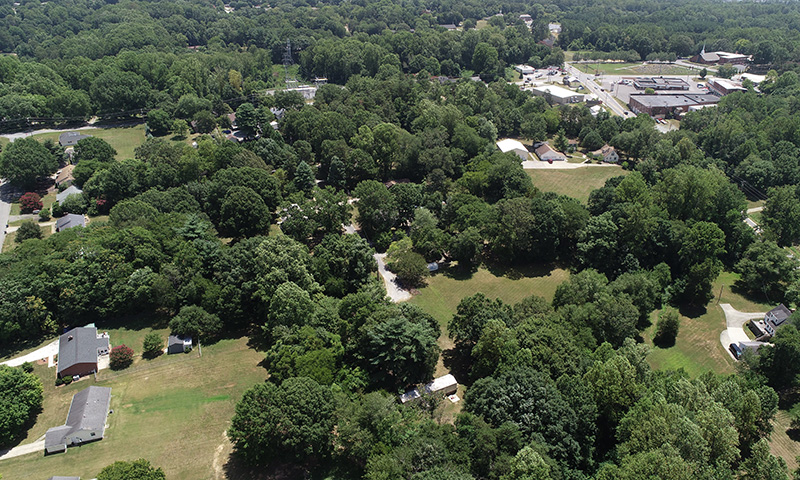 Winsted Street Aerial View